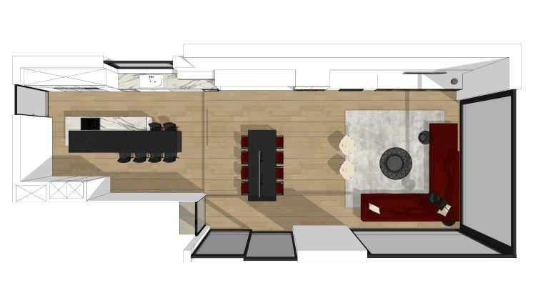 Villa te Ninove - 2 grondplanx