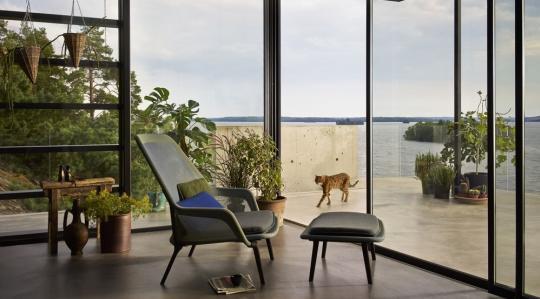 Slow Chair & Ottoman Vitra - Slow chair ottoman 823159 preview